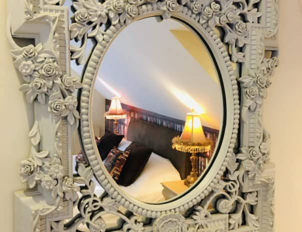 Mirror in Sycamore suite